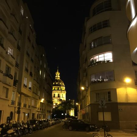 view away from hotel at night picture of le cinq codet paris tripadvisor. Black Bedroom Furniture Sets. Home Design Ideas