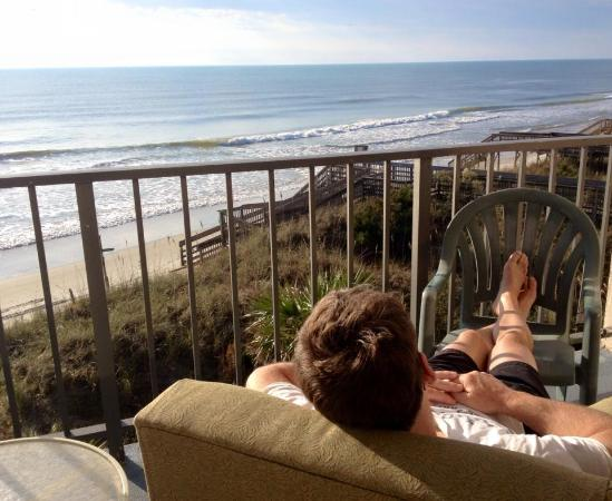 Oceanfront Litchfield Inn: deck from our room