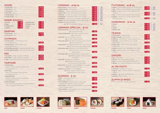 Tolentino, Italië: Il menù. Spero serva a chi lo cerca, come ho fatto io! :-)