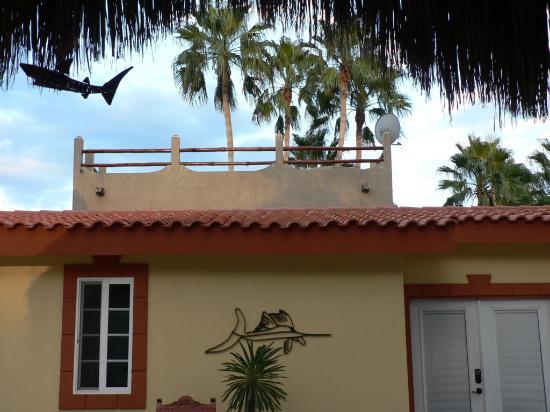 El Tiburon Casitas: in the courtyard looking up