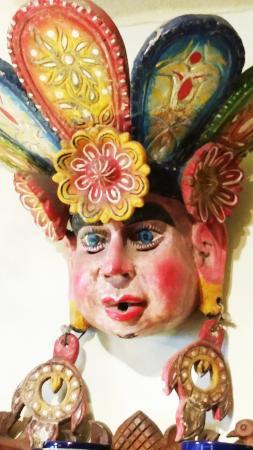 Lucy's CuCu Cabaña: Huge vintage wooden  Mexican mask