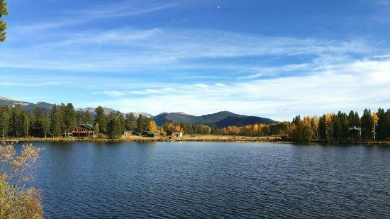 Moose Lake Lodge, LLC: View from the deck of Elk House