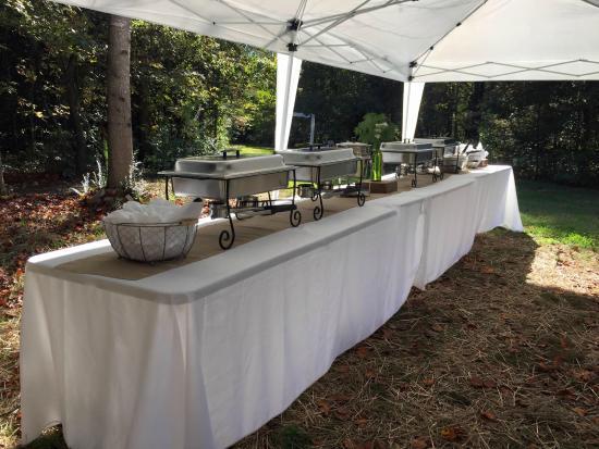 Vale, Carolina del Norte: Catering Setup