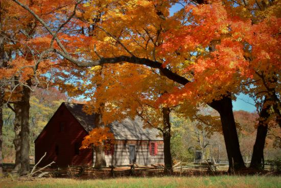 Jockey Hollow: The Wick House in the fall taken on Oct 23, 2015