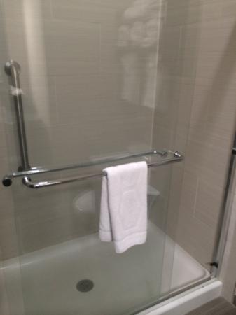 Hampton Inn & Suites Port Aransas : huge shower
