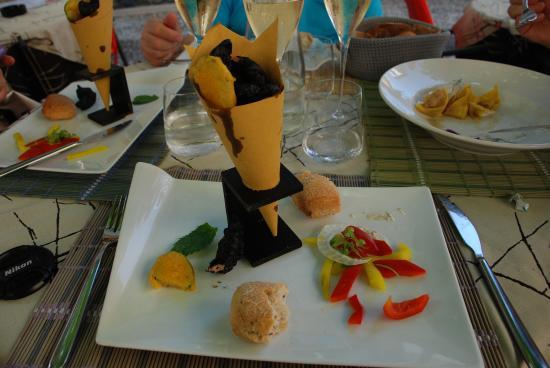 Ristorante Re Lear: Frittura di lago in pastella.......