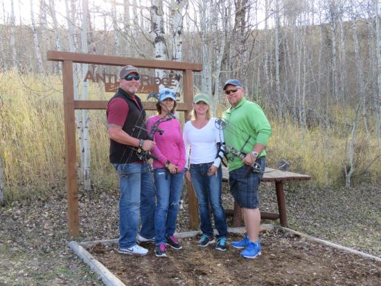 The Lodge and Spa at Three Forks Ranch: We loved the archery trail; so much fun!