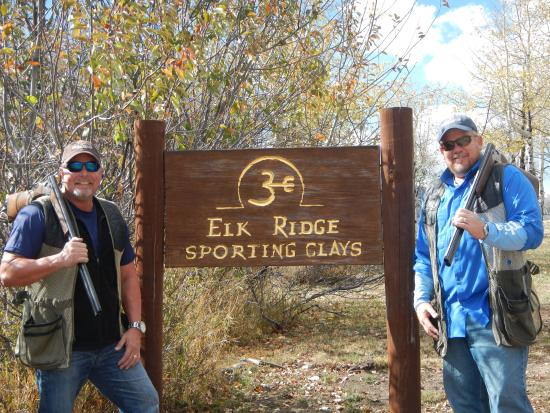 The Lodge and Spa at Three Forks Ranch: The boys loved trap shooting