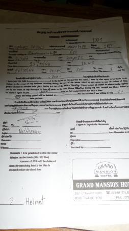 Surat Perjanjian Sewa Motor Picture Of Grand Mansion Krabi Town