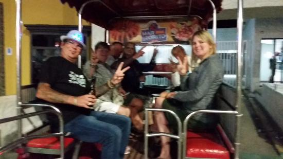 Lookout Mountain: our party truck for the tour...300 pesos per hour