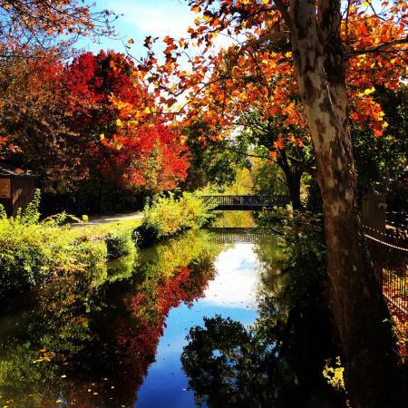 Lambertville, نيو جيرسي: The towpath alongside the canal in Lambertville