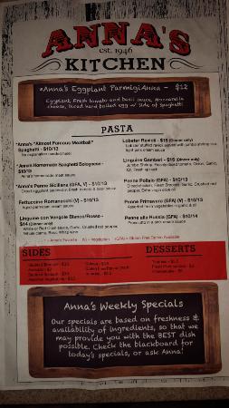 annas kitchen menu back - Annas Kitchen