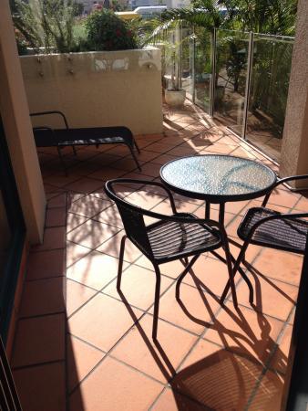 Outdoor setting on balcony