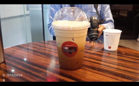 Caffe Pascucci Seoul Station : 거품이 풍부한 아메리치노