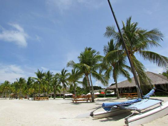 Dumaluan Beach Resort: Your view from the beach across or beside the hotel