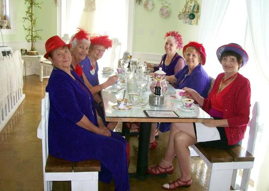The Tilted Teacup Tea Room and Boutique: Red Hatters of New Port Richey