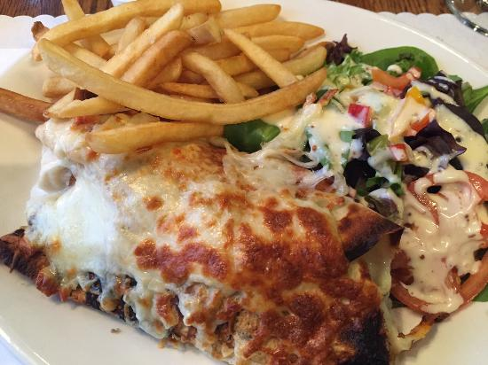 Chicken Crepe With Fries And Salad Picture Of Restaurant L