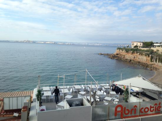 vue terrasse picture of l 39 abri cotie marseille tripadvisor. Black Bedroom Furniture Sets. Home Design Ideas