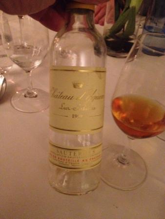 Restaurant Oestergade 1: Kongen af Sauterne Chateau d'Yquem