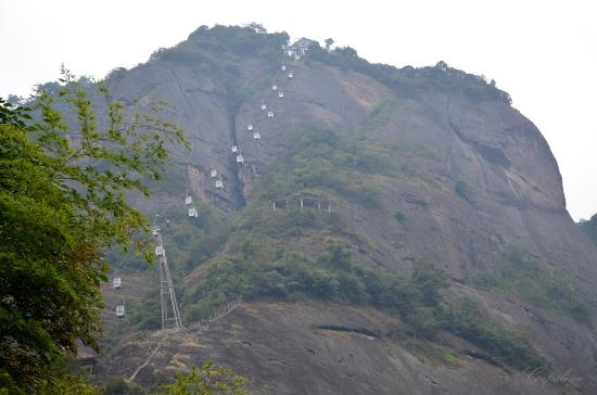 Ziyuan County, China: Вид на гору.
