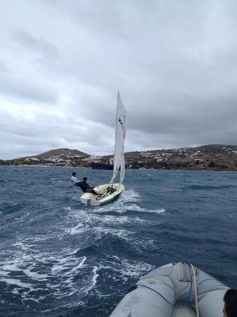 420 sailing picture of paros nautical club sailing school paros