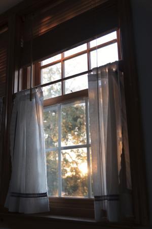 Seagull Inn: Blick aus dem Bett am Morgen