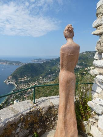 Statue looking out over the mediterannean - Picture of Le Jardin ...