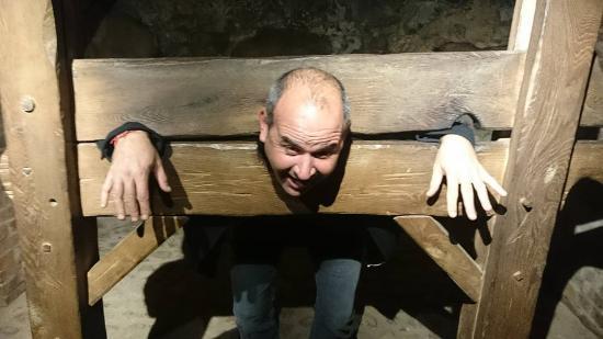 Mir, Belarus: Wooden box for punishment of criminals