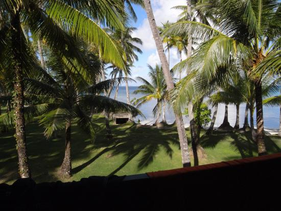 Truk Blue Lagoon Resort: looking west