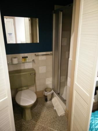 Dimple Well Lodge: Ensuite - bit old - stopped making suites in Avacado 30 years ago
