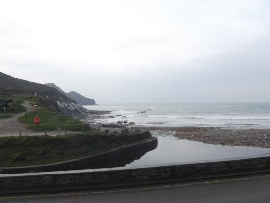 Crackington Haven, UK : View from the bar.