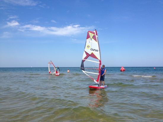 Gohren, Tyskland: Windsurfschule ProBoarding im Ostseebad Göhren