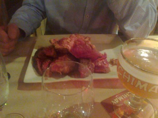 Auberge Champenoise : Plat servis tel quel dans le restaurant de l'Auberge