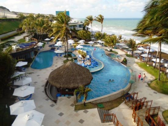 Ocean Palace Beach Resort Bungalows Area Das Piscinas E Vista Da Praia