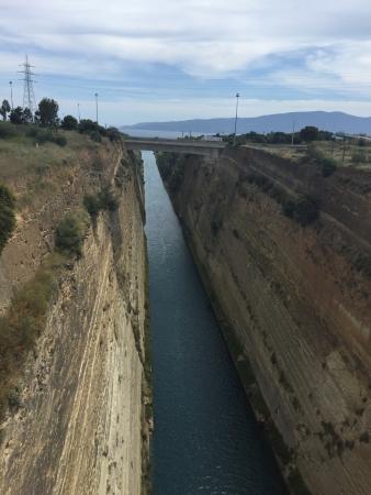 closeup of map Picture of Corinth Canal Corinth TripAdvisor