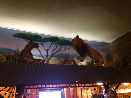 Mound City, MO: Hyena and Lion over the bar