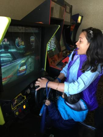 Quality Inn Central Denver : Playing in the games room with my infant