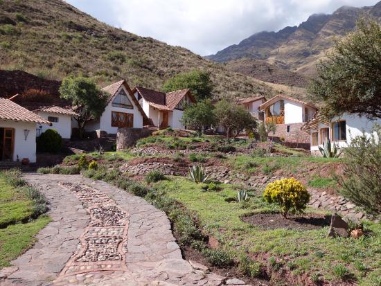 Villa Pachatusan: Vista desde el ingreso