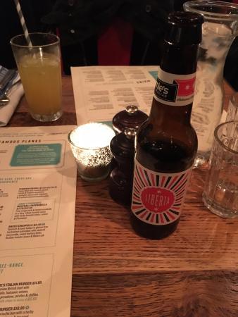 Jamie S Italian Covent Garden Liberta Beer