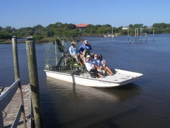 Airboat picture of voyles guide service cedar key for Cedar key fl fishing