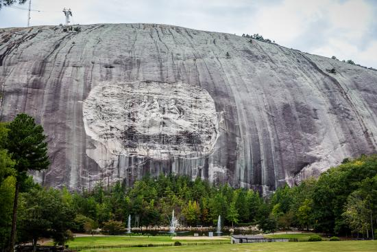 Stone mountain picture of carving