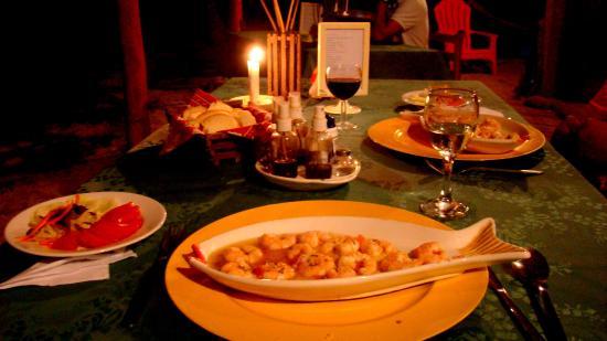 La Princesa de la isla: Cena: Camarones