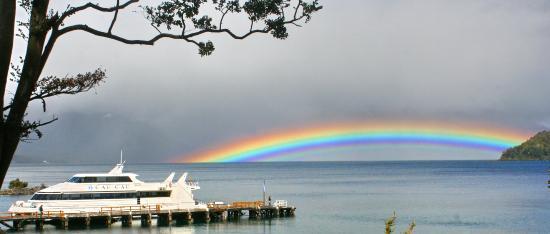 Cau Cau: y de fondo este majestuoso arcoiris