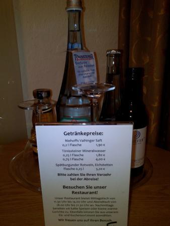 Legden, Tyskland: Zimmer Preise Getränke