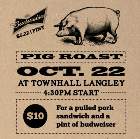 Townhall Public House Langley: The Second Annual Pig Roast!