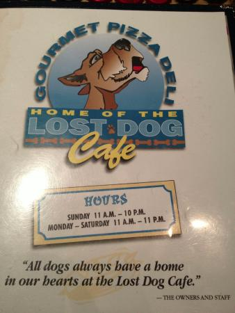 Front picture of the menu - Lost Dog Cafe, Arlington