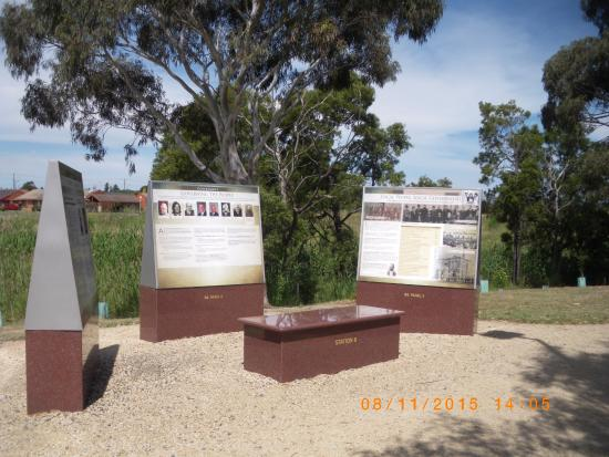 Morwell, Australia: some of the 72 panels along the walk