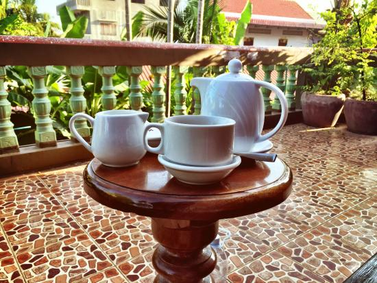 Alliance Villa: Morning coffee on my private balcony.