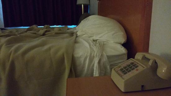 Econo Lodge University: The bed