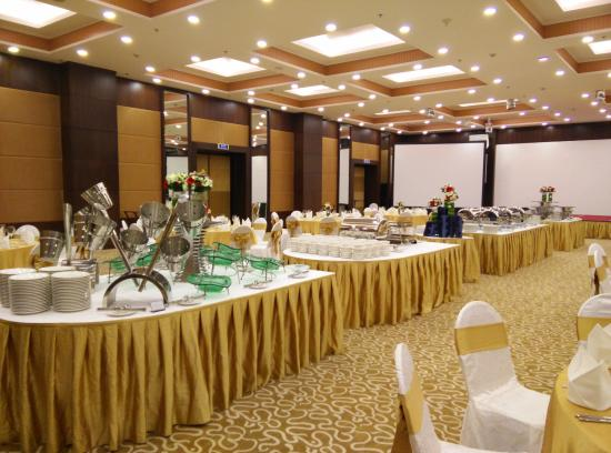 Buffet set-up - Picture of Almaz International Cuisine and ...